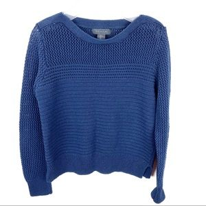 Tahari Blue Knit Boat Neck Sweater Size Large